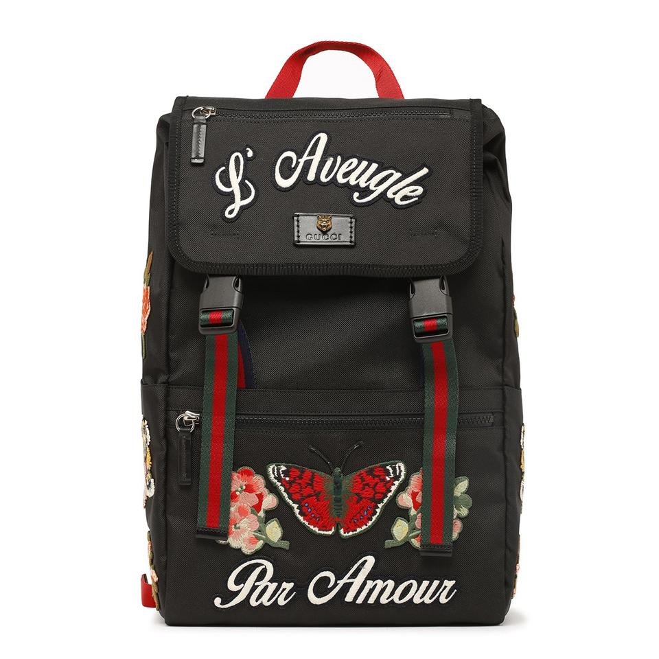 8aa19547c22 Gucci  l aveugle Par Amour  Techpack Black Canvas Backpack - Tradesy