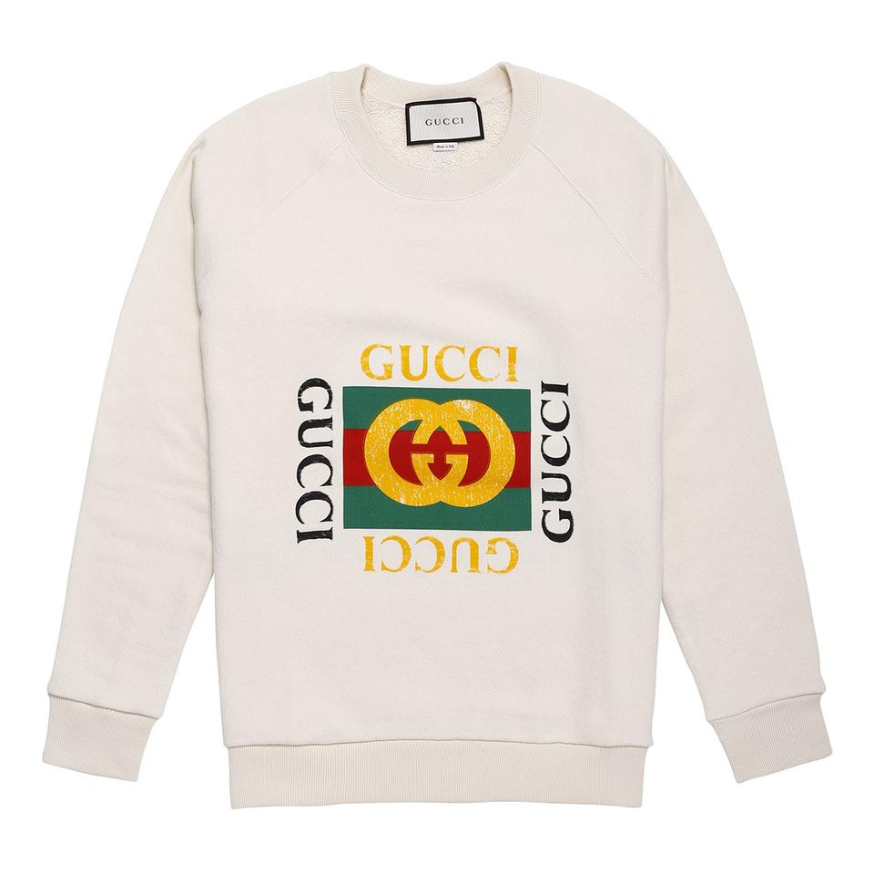 ca7e36a7460 Gucci Beige Tiger Embroiidered Blind For Love Sweatshirt Hoodie Size ...