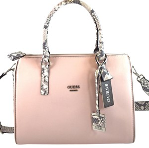 Guess Satchel in pink blush/grey