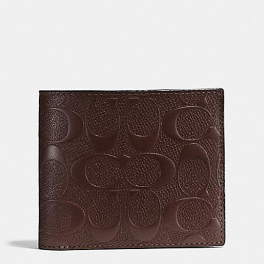 Coach COACH F 75371 COMPACT ID WALLET IN SIGNATURE CROSSGRAIN LEATHER Image 2