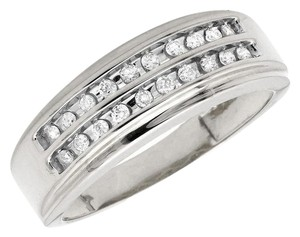 Other Two Rows Channel-Set Diamond Engagement Wedding Ring Band 0.25Ct