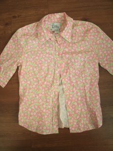 Lilly Pulitzer Top Pink Pineapple Print