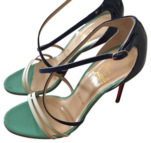 Christian Louboutin Tiffany blue, navy and white Pumps