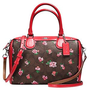 Coach F36689 Bennett Crossbody 36702 Satchel in SILVER/BROWN RED MULTI