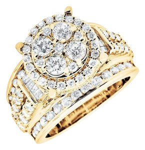 Other Halo Round & Baguette Cut Engagement Wedding Diamond Ring 3.0ct