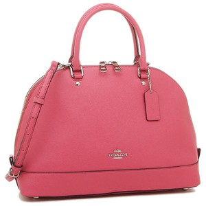 Coach Cora Domed Border Studed 37238 Satchel in Strawberry silver