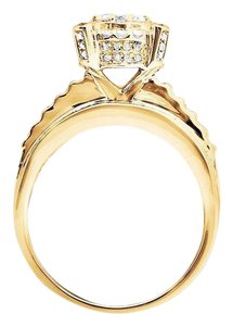Other Halo Round Baguette Cut Engagement Wedding Diamond Ring 3.0ct