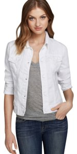 J Brand Pure White Womens Jean Jacket
