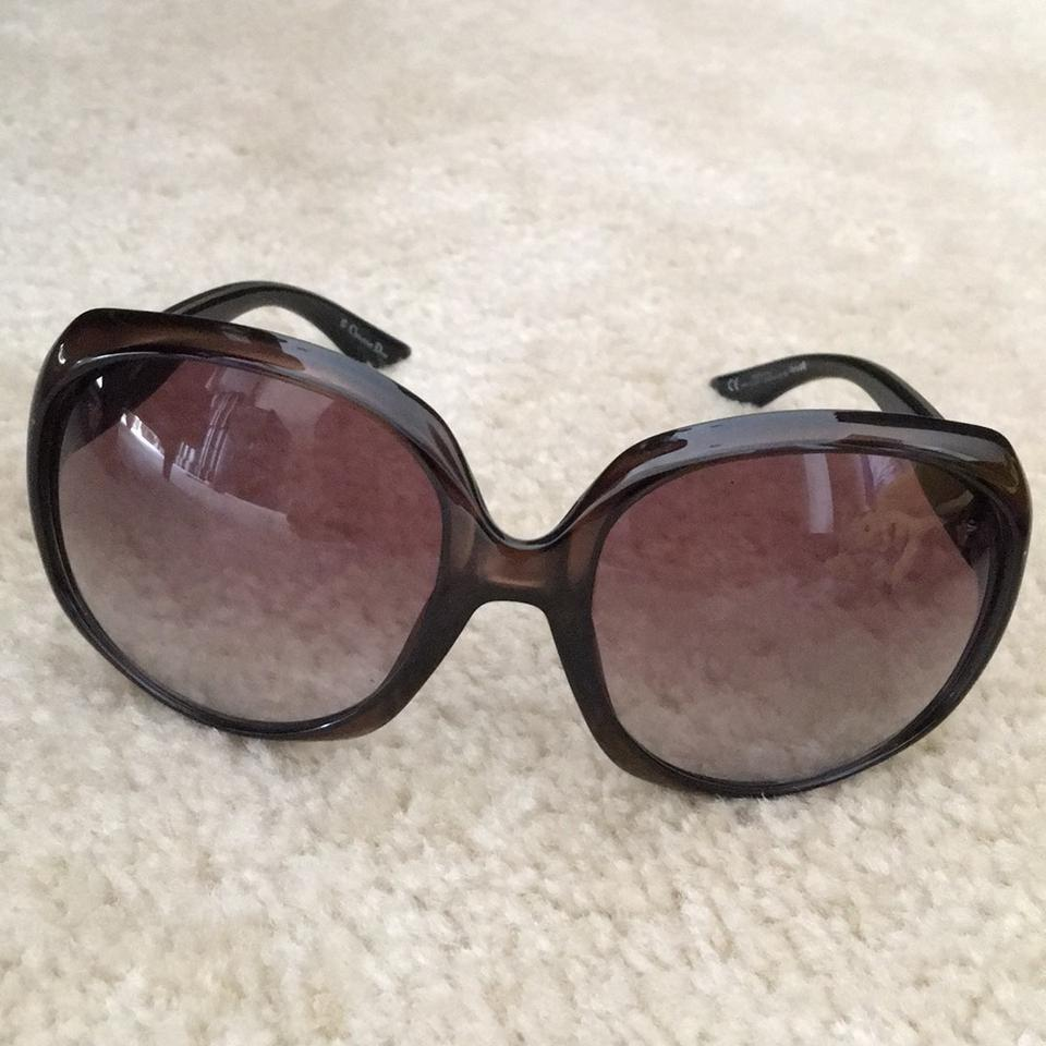 9b6e953620 Dior Olive Green Christian Oversized Glasses Sunglasses - Tradesy