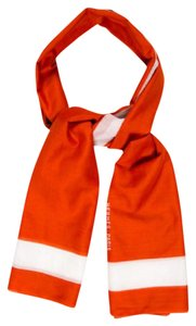 Hermès Hermes Orange White Large Scarf Wrap