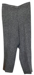 Alfred Dunner Flare Pants Black and white herringbone pattern.