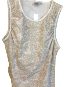 DKNY T Shirt white and gold