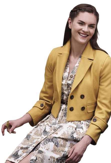 Item - Yellow Cartonnier Luisa Cropped Coat Size 4 (S)