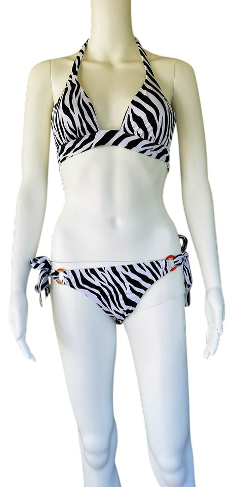 1ad07c2740b Victoria's Secret Black White XS Zebra Tie Swimsuit Bikini Set Size 2 (XS)