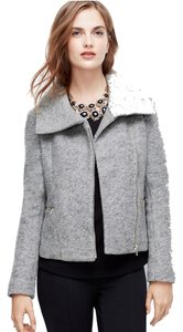 Ann Taylor Wool Asymmetric Moto Motorcycle Jacket