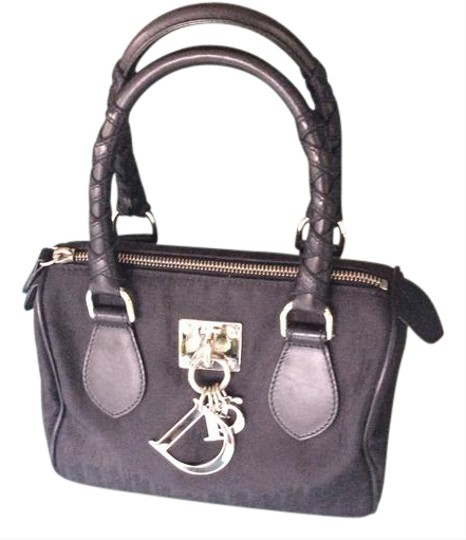 Preload https://item3.tradesy.com/images/dior-christian-so-lovely-black-canvas-and-leather-satchel-21095812-0-1.jpg?width=440&height=440