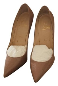 Christian Louboutin 39.5 Pigalle 120 Nude Pumps