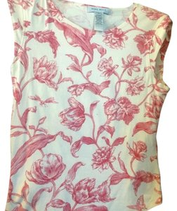 Nine West T Shirt red on ivory