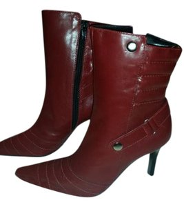 Carlos by Carlos Santana Stilleto Vintage Leather Studded Red Boots