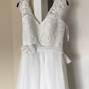 Lace Top Simple Wedding Dress Wedding Dress