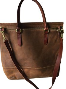 Madewell Leather Fall Accesory Tote in brown