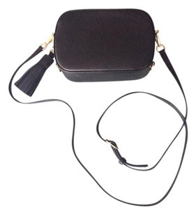 Pop and Suki Leather Camera Style Gold Hardware Cross Body Bag