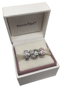 PANDORA New Pandora 3 piece spring time charm clip set in original gift pouch