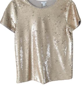 J.Crew Sequin Shirt Top gold