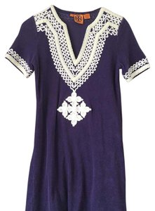 Tory Burch short dress purple Tunic Coverup on Tradesy