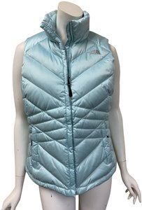The North Face Turquoise Moncler Down Puffer Vest