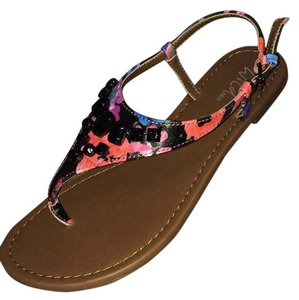 Wild Pair Flats Beaded Multi Color Multi Beaded Sandals