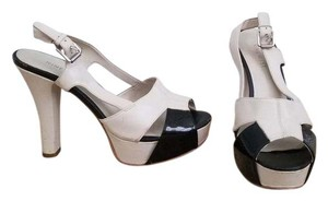 Nine West Beige and black Platforms
