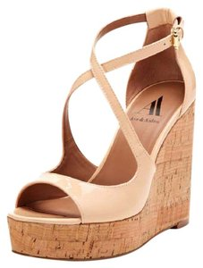 Ava & Aiden Nude Wedges