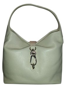 Dooney & Bourke Leather Kiss-lock Vanilla Off White Hobo Bag
