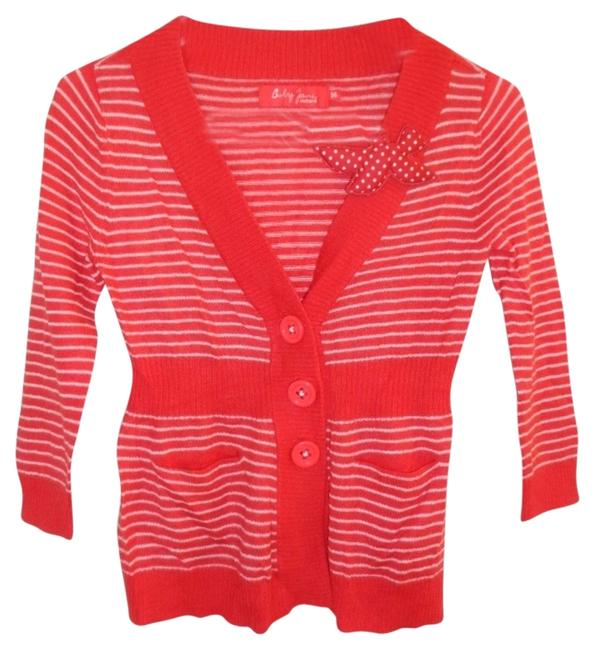 Preload https://item2.tradesy.com/images/cacharel-red-and-white-baby-jane-collection-cardigan-made-in-italy-cardigan-size-6-s-2109651-0-0.jpg?width=400&height=650