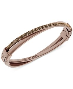 Michael Kors Michael Kors Two-Tone Color Rush Criss-Cross Hinged Bangle Bracelet