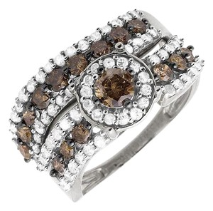 Other Ladies Genuine Diamond Bridal Set Engagement Band Ring 0.50ct