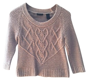 Moda International Cropped Blush Knit Wool Sweater