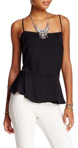 Free People Dotted Dobby Spaghetti Strap Top BLACK