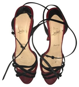 Christian Louboutin Strappy Heels Preowned Leapord Platforms