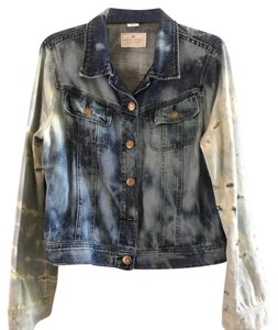 J.Crew jean and white Womens Jean Jacket