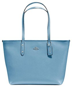 Coach 36875 Satchel 36876 Tote in SILVER/CORNFLOWER