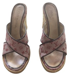 Louis Vuitton Sandals Designer Espadrilles Lv pink Wedges