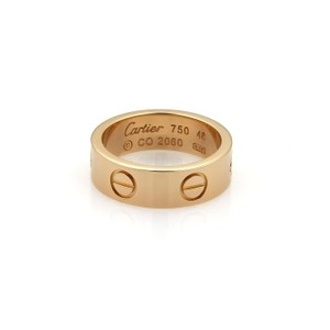 Cartier Love 18k Rose Gold 5.5mm Wide Band Ring Size 48- US 4.5