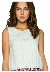 Sam Edelman Embroidered Daisy Floral Top White