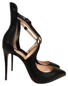 Christian Louboutin Marlenarock Stiletto Strappy Ankle Strap Leather black Pumps