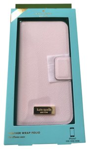 Kate Spade NWT iPhone 7 pink blush leather wrap folio case