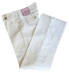 Ann Taylor Straight Pants Cream