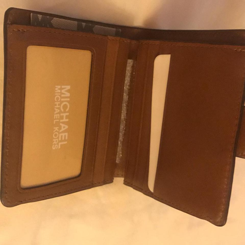 2f9ae30b7230 Michael Kors Natural   Luggage Natalie Medium Wallet - Tradesy