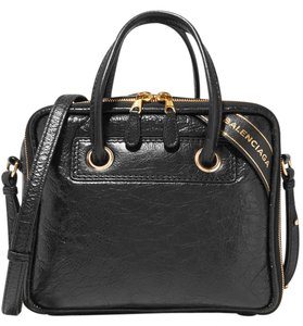 Balenciaga New Textured Leather Tote in black